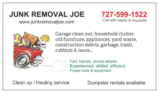 Junk Removal Joe 727 599 1522 Palm Harbor Florida